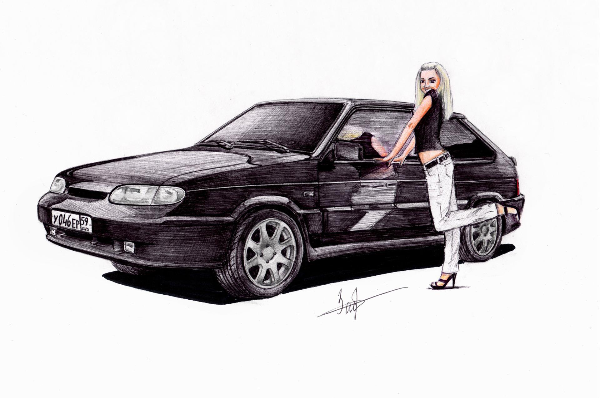 рисунки автомобилей: