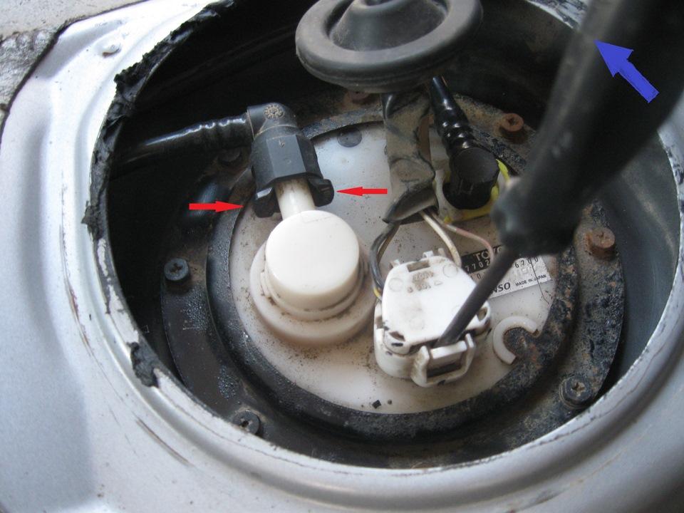 Замена топливного фильтра на тойота королла 120
