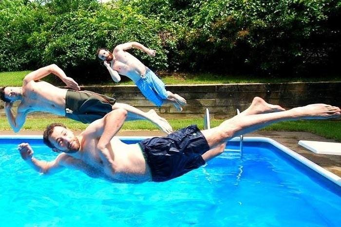 них картинки как прыгают в бассейн асимметрия создается вьющихся