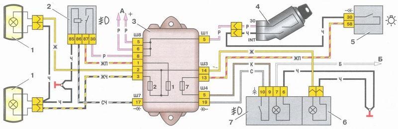 Электрическая схема ВАЗ- 2108*