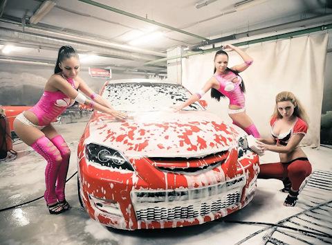 Работа для девушки на автомойке блестящие чулки фото