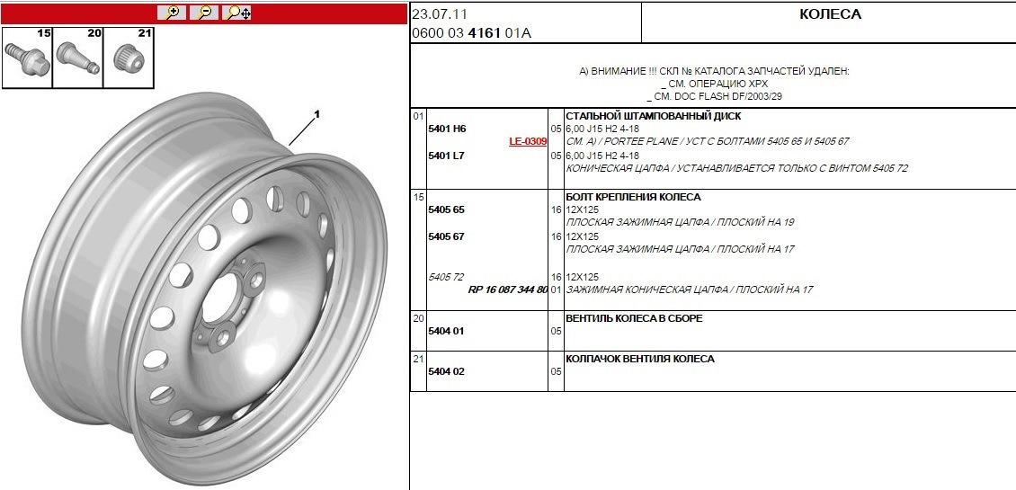 размер болтов для литых дисков ситроен с5