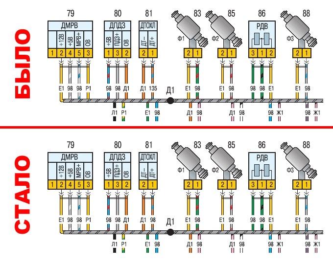 Исправлено обозначение провода