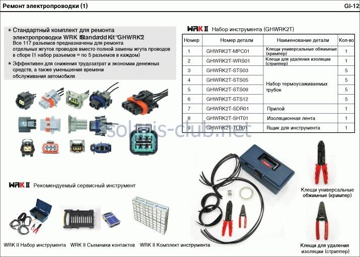 Ремонт электропроводки GL-12