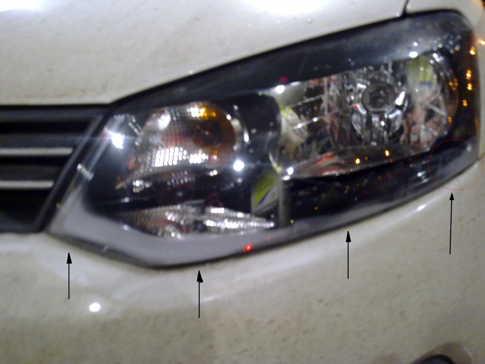 фольксваген поло запотевают фары автомобиля