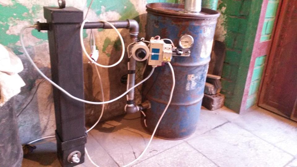 Коптильня из бочки с дымогенератором