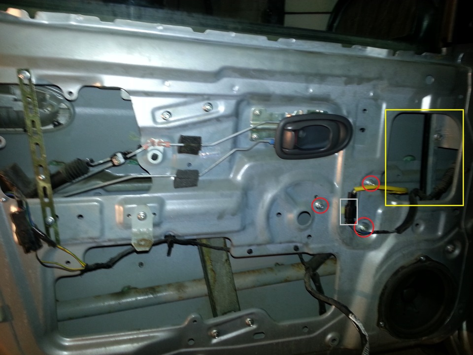 как разобрать моторчик стеклоподъемника на киа спектра
