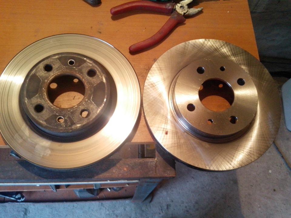 Замена тормозных дисков ваз 2112