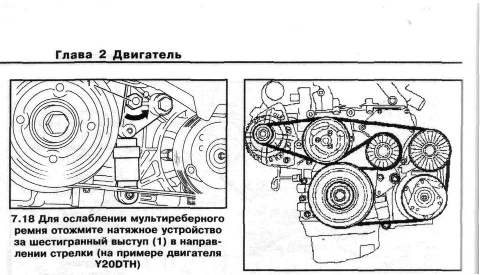 Схема замены ремня генератора фото 887