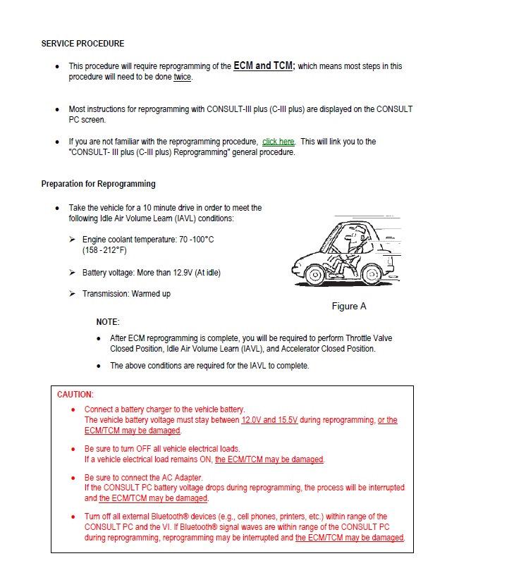 ISB (Infiniti Service Bulletin) Перепрограммирование 7