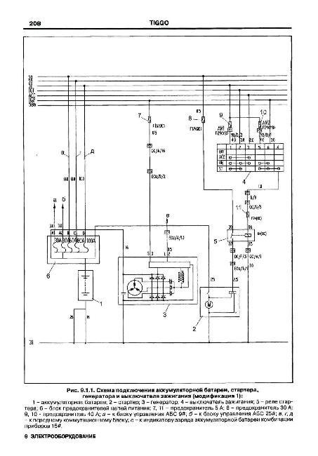 электрическая схема на чери амулет а15