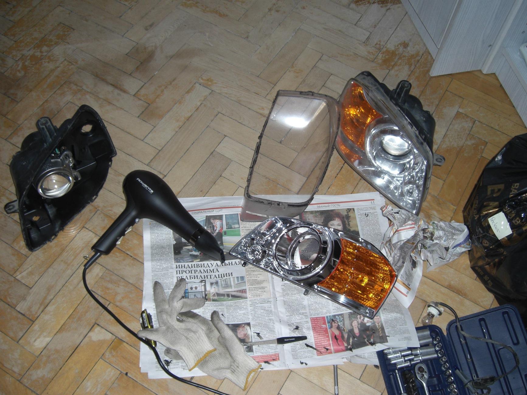 киа маджентис 2006 как снять фару