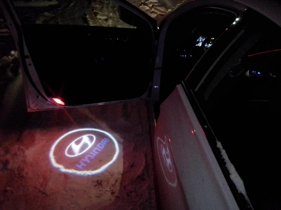 Подсветка в двери солярис