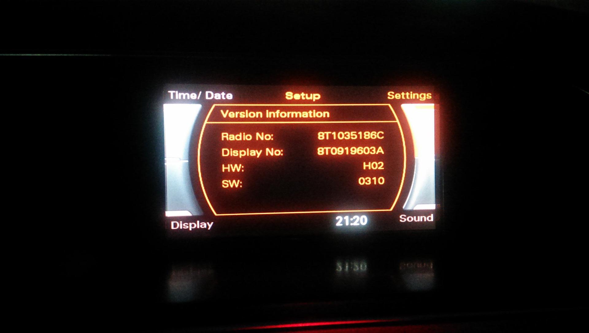 upgrade radio svm b856a001
