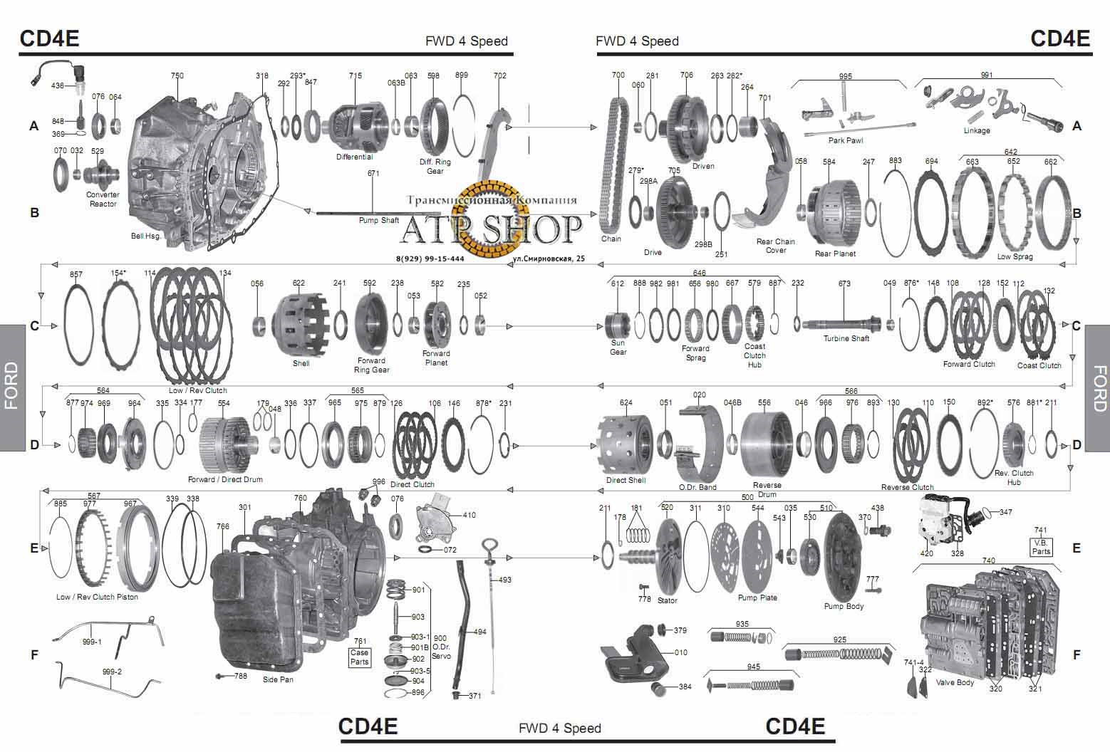 ford cd4e transmission diagram wiring diagram portal u2022 rh graphiko co CD4E Automatic Transmission CD4E Transmission Exploded View