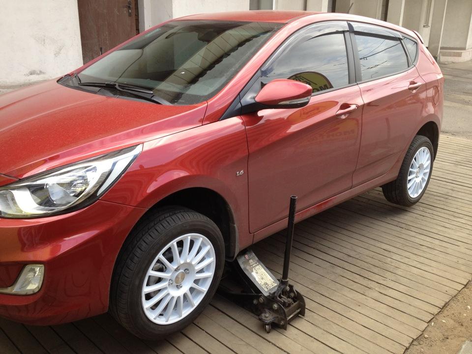 Hyundai Solaris hatchback. Modern bestseller