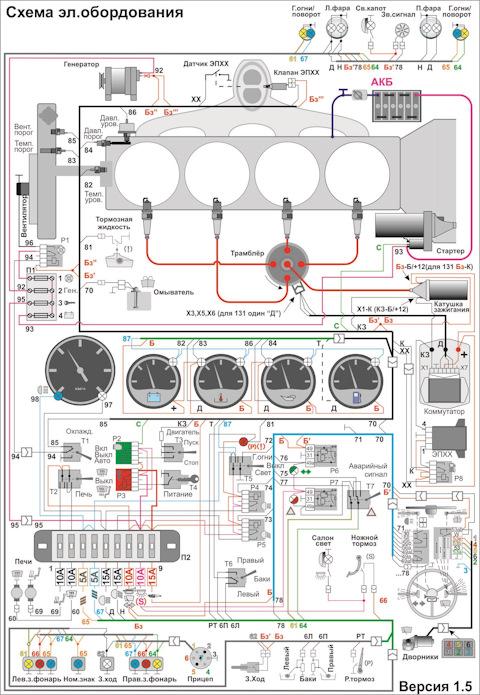 Уаз 469 проводка