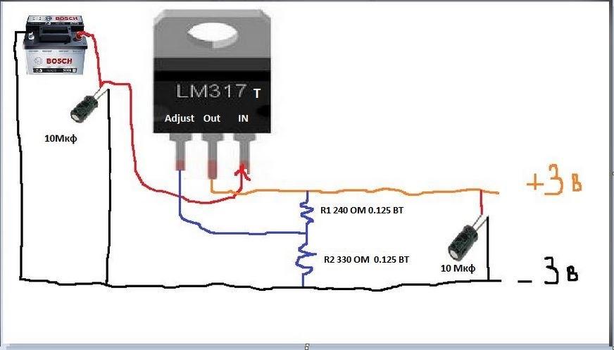 Стабилизатор на 5 вольт своими руками схема 95