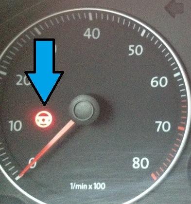 Красный руль или ошибка усилителя руля на VW Passat CC