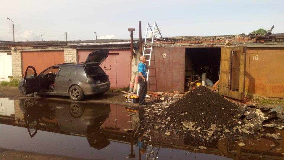 Замена крыши в гараже