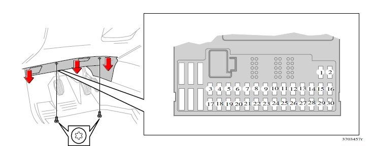 заменить предохранитель прикуривателя в вольво v70
