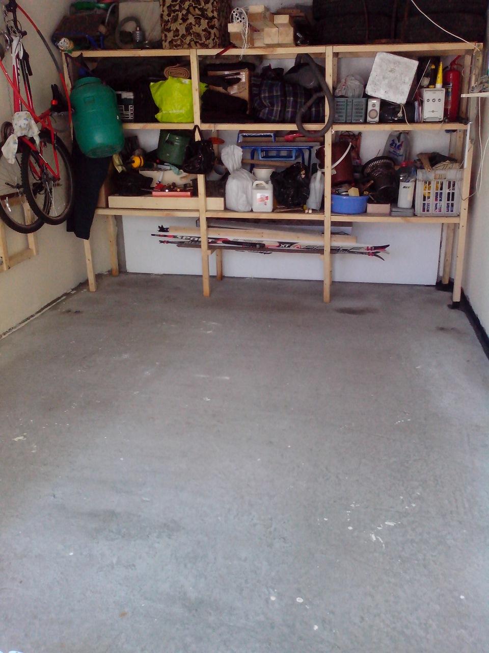 покраска пола в гараже своими руками