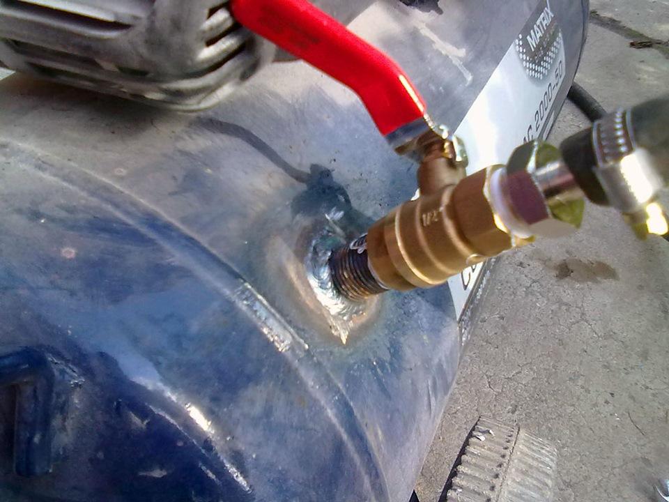 Ресивера для компрессора из газового баллона