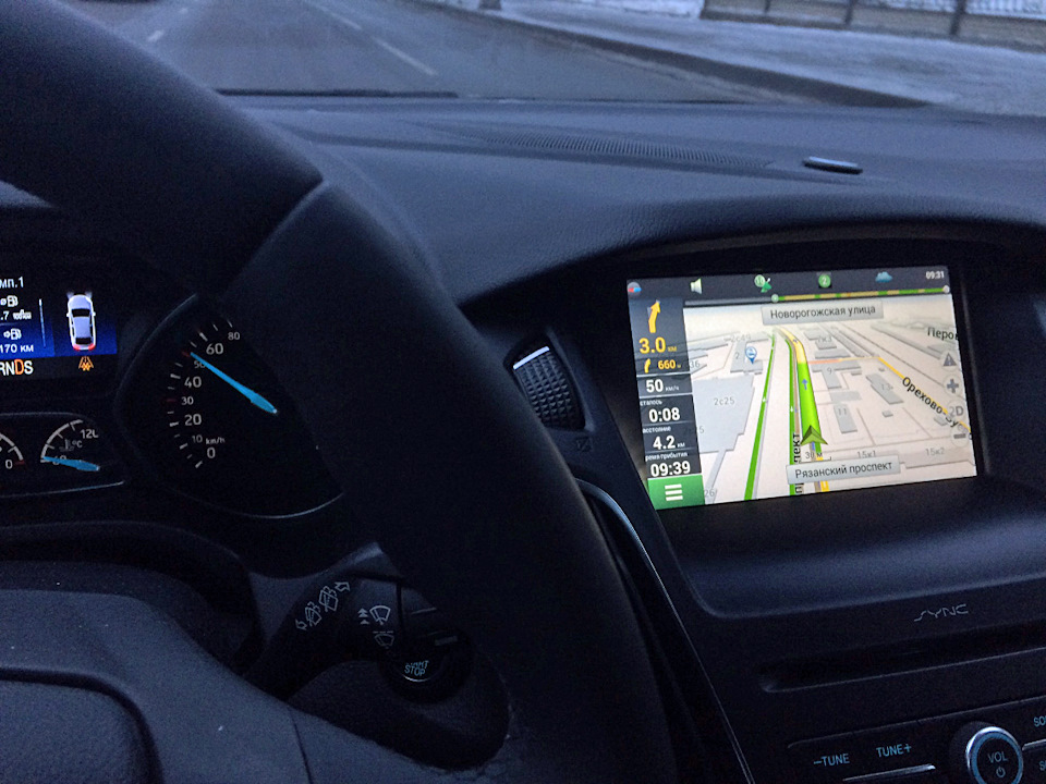 Navitel Navigation in SYNC2 — logbook Ford Focus Wagon 2016 on