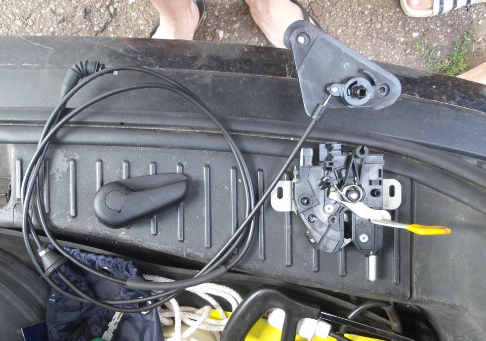 Переделка замка капота форд фокус 2 своими руками
