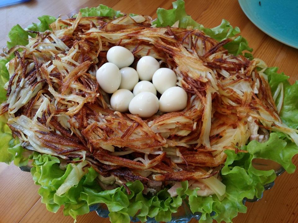 салат перепелиное гнездо рецепт с фото пошагово всех