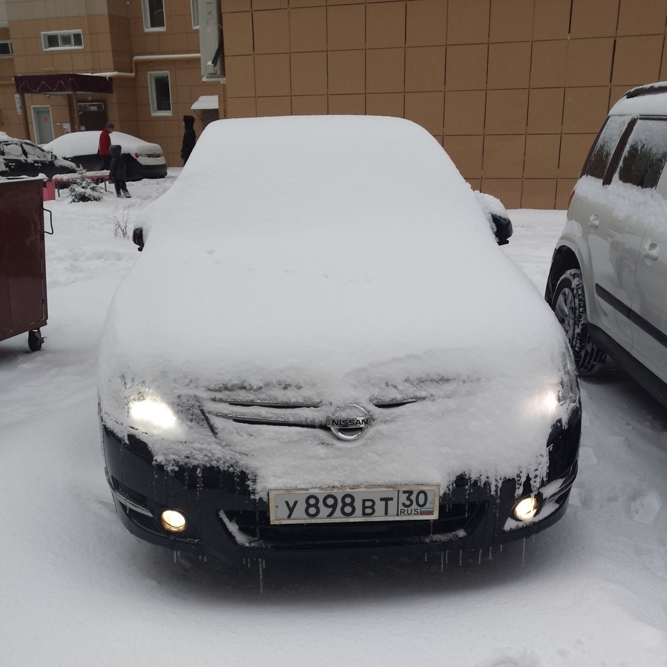 nissan teana по снегу