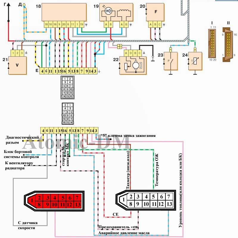"""...схем я  """"родил """" такую простую схемку подключения Схемка относиться к подключению к проводке и VDO панели."""