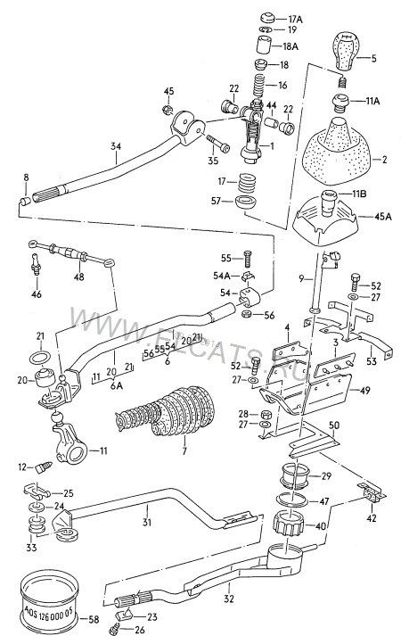 Схема механизма переключения