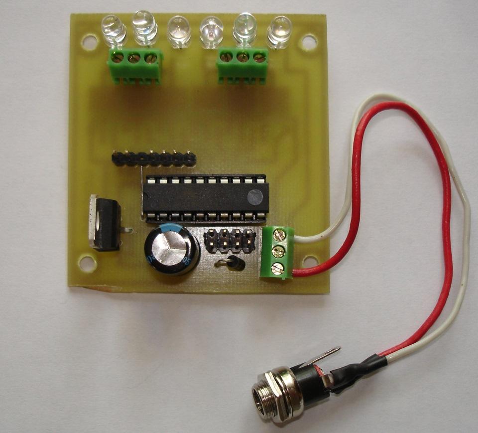 Схема макет светофора
