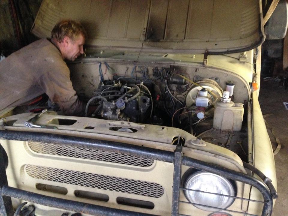 Установка 402 двигателя на уаз 469 59