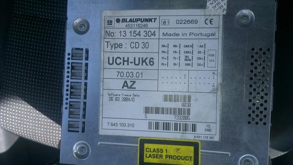 Инструкция автомагнитола opel cd 30 mp3