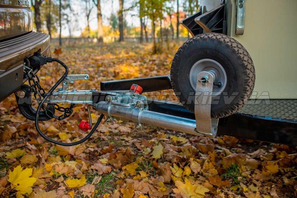 опорное колесо для лодочного прицепа своими руками