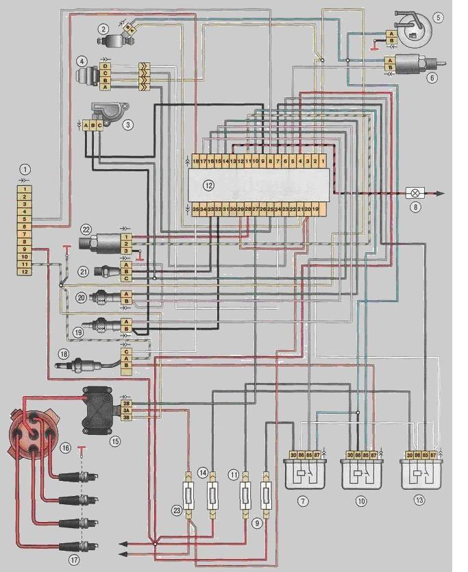 Схема проводки славуты