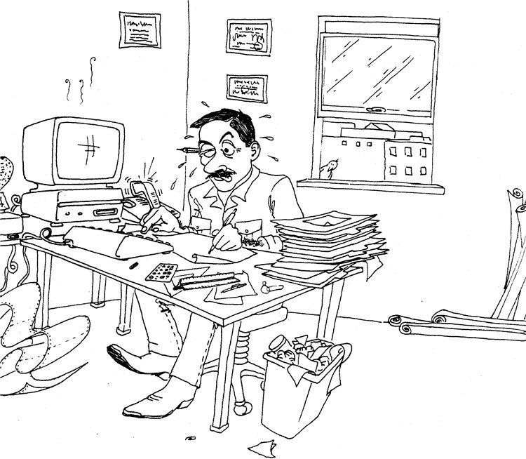Смешные офисные рисунки