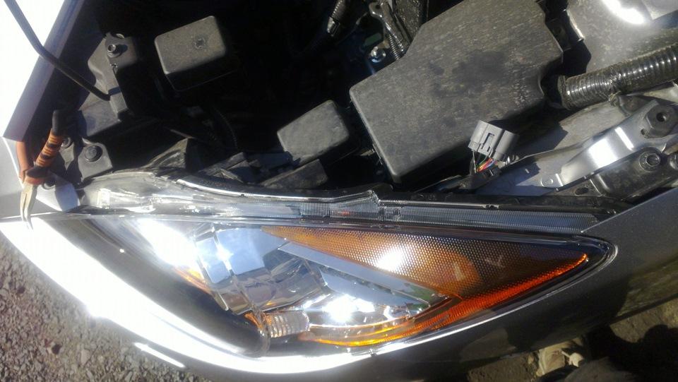 mazda3 замена ламп габаритов