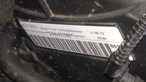 номер двигателя на skoda roomster