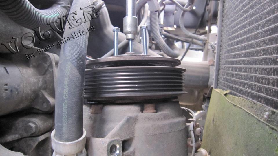 замена подшипника шкива компрессора мерседес w220