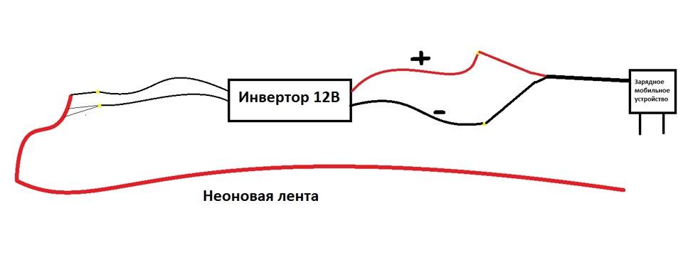 Гибкий неон схема подключения