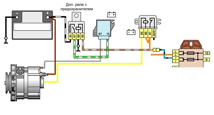 Как зарядить аккумулятор от генератора схема