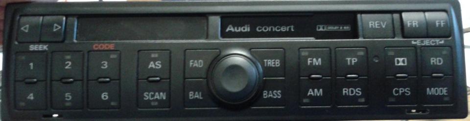 как разобрать штатную автомагнитолу audi symphony 1