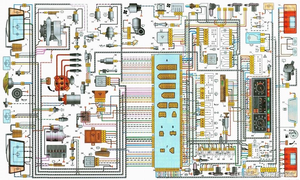 Электросхема ваз 21099 - схема