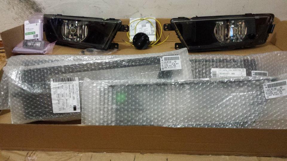 Установка противотуманных фар шкода а7 Замена выпускного коллектора т4