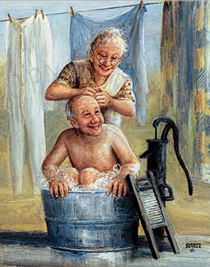 Открытка для старых людей