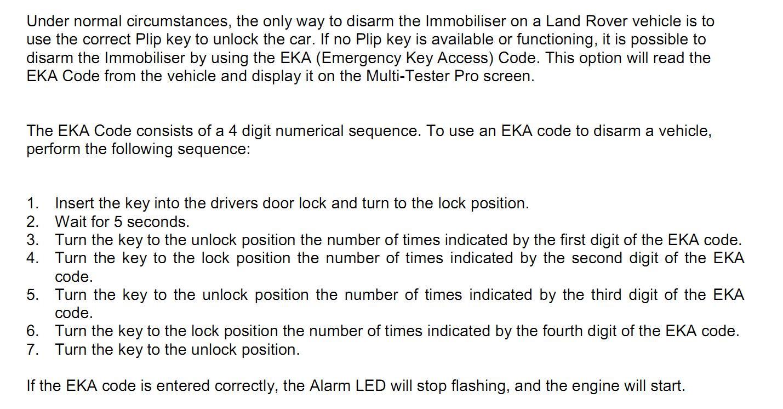Выковыриваю EKA-код из Land Rover Discovery2  BCU 73004311/A