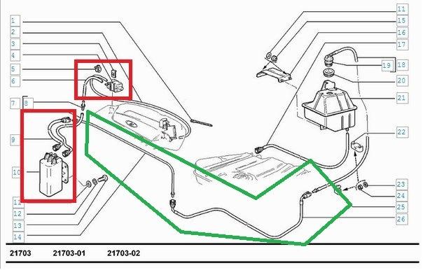 схема подключения абсорбера ваз 2112
